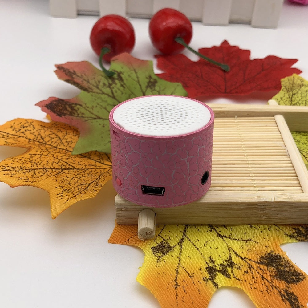 Mini Wireless Loudspeaker Crack Pattern Support TF Card Speakers mp3 Stereo Audio Music Player
