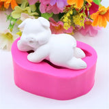 3D Cartoon Lying Down Pig Shape Silicone Cake Mold Cake Decoration Tool Mould