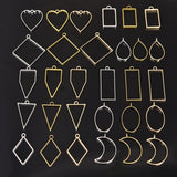 10Pcs/set Round Triangle Heart Shaped Open Back Bezel Pendant for Resin Epoxy DIYJewelry Makings
