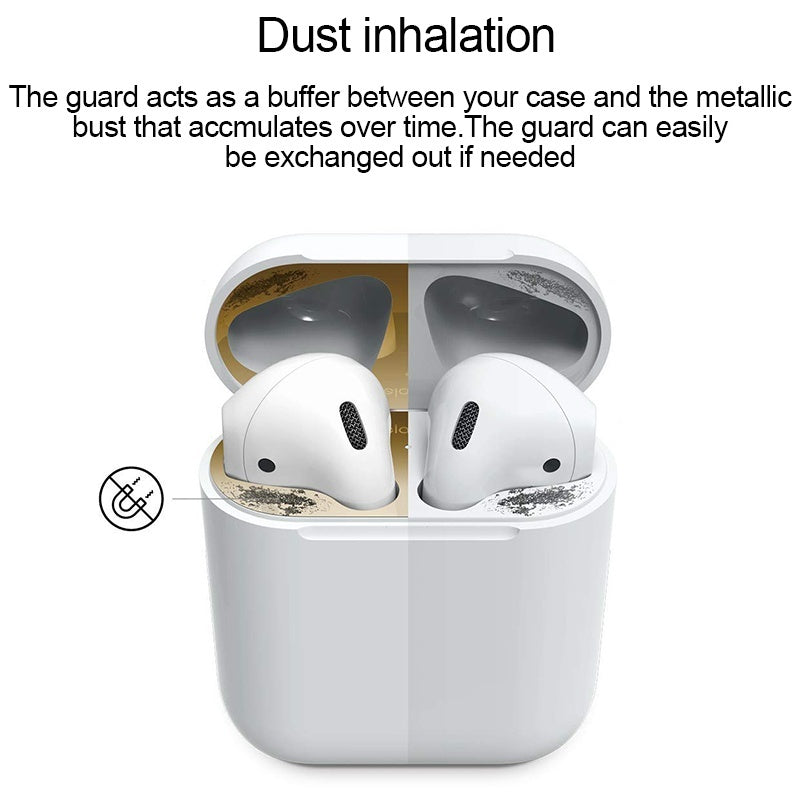 Protective Cover Metal Film Sticker Scratchproof Gold Plating Dust Guard for AirPods  Earphones Pouch accessories