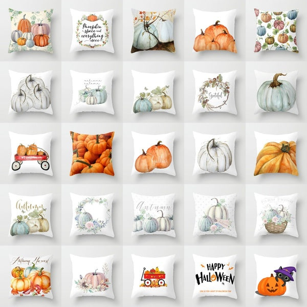 18'' Nordic Halloween Pumpkin Thanks giving throw pillows case Cover for sofa official cushion cover Home Decorations 45x45CM