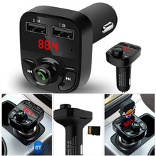 Load image into Gallery viewer, Car Bluetooth Kit FM Transmitter Dual USB MP3 Player Radio USB Port Hands-free Wide Compatibility Car Accessories