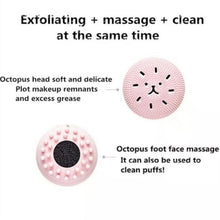 Load image into Gallery viewer, Cute Animal Small Octopus Shape Multi-function Silicone Facial Cleaning Brush Deep Pore Cleaning Exfoliator Face Washing Brush Beauty Gifts