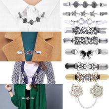 Load image into Gallery viewer, Fashion Alloy Brooch Shell Starfish Chain Clothing Collar Clips Women Cardigan Sweater Pins Wedding Beach Jewelry Accessories Gift