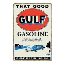 Load image into Gallery viewer, That Good Gulf Gasoline Vintage Decor Metal Tin Signs Racing Team Poster Wall Plaque Motor Oil Metal Plate 20*30
