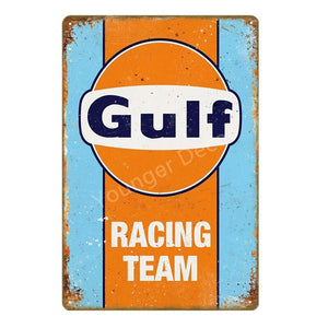 That Good Gulf Gasoline Vintage Decor Metal Tin Signs Racing Team Poster Wall Plaque Motor Oil Metal Plate 20*30