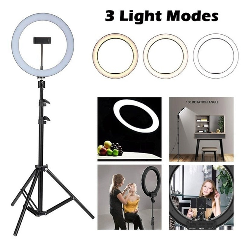 26cm Dimmable Beauty Ring Light Fill Light Set For Live Streaming Selfie Beauty Photography Studio Video