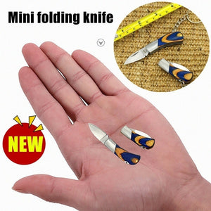 NEW Mini Keyring Small Pocket Keychain Folding Folder Knife Outdoor Tactical Rescue Tools Folding Hunting Self-defense Hidden weapon cheap