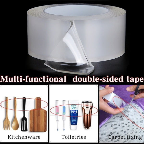 Reusable 1/3/5m Multi-function Seamless Transparent Double-sided Adhesive Nano-gel Acrylic Foam Tape