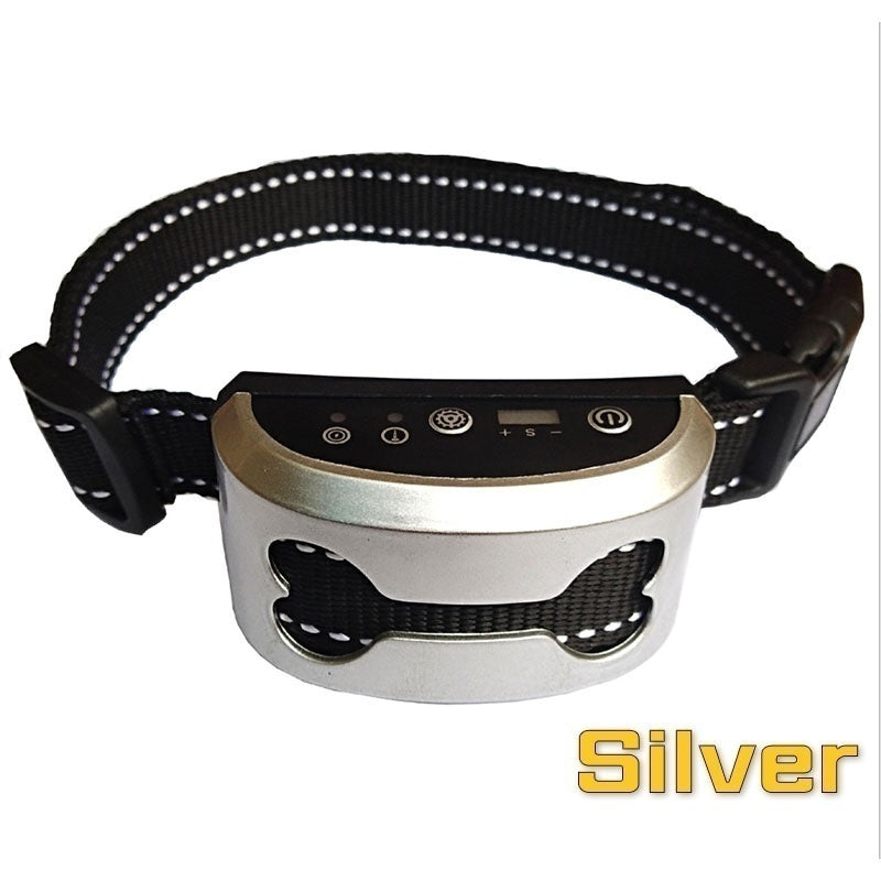 Anti Bark Control Collar Gears Sensitivity Waterproof Electric Shock Dog Training Collars