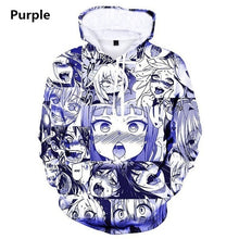 Load image into Gallery viewer, Fashion Men Women 3D Printed Hoodie Graphic Pullover Japanese Anime Sweatshirts Plus Size