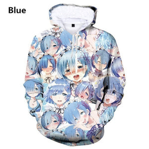 Fashion Men Women 3D Printed Hoodie Graphic Pullover Japanese Anime Sweatshirts Plus Size
