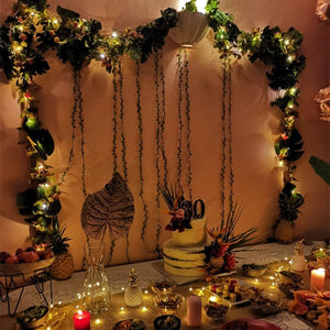 Leaf Garland Fairy Lights 2M Fairy Led String Light garland Wedding Home Decoration Mini Led Copper Lights