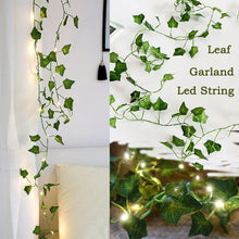 Load image into Gallery viewer, Leaf Garland Fairy Lights 2M Fairy Led String Light garland Wedding Home Decoration Mini Led Copper Lights