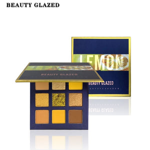 Beauty Glazed Neon Eyeshadow Pallete Colorful Diamond Glitter Matte Shimmer Waterproof 9 Colors Eyeshadow Makeup
