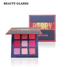 Load image into Gallery viewer, Beauty Glazed Neon Eyeshadow Pallete Colorful Diamond Glitter Matte Shimmer Waterproof 9 Colors Eyeshadow Makeup