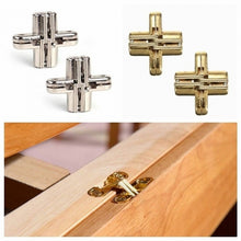 Load image into Gallery viewer, 1 Pair Invisible Cross Hinge Hidden Concealed Door Cabinet Cupboard Wooden Boxes