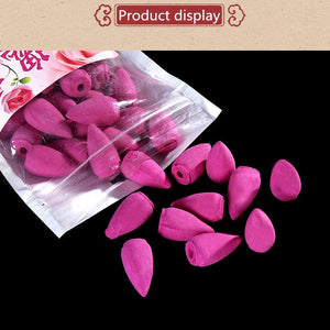 45pcs Sachets of Tower Incense Backflow Fragrant Grains Flowers Tower Cone Incense Backflow Fragrant Toilet Incense