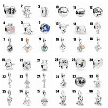 Load image into Gallery viewer, Original Diy Jewelry Making 925 Sterling Silver Charms for Chain Bracelet Rhinestone Pendants for Necklace