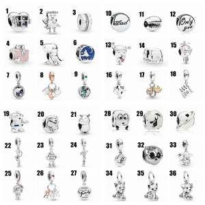 Original Diy Jewelry Making 925 Sterling Silver Charms for Chain Bracelet Rhinestone Pendants for Necklace