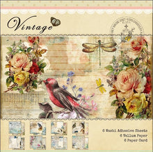Load image into Gallery viewer, 18 pcs Printed Paper Craft Vintage Pattern DIY Scrapbooking Background Paper Art Handmade Paper