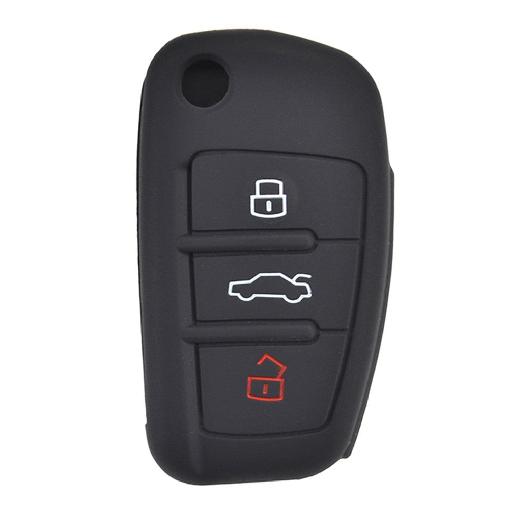 Silicone Remote Key Case For Audi A1 S1 A3 S3 A4 A6 RS6 TT Q3 Q7 Fob Shell Cover Skin Jacket Sleeve 2005 - 2013
