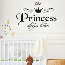 Load image into Gallery viewer, 1PC Removable the Princess Crown Wall Sticker Girls Bedroom Decor Baby Room Art Decal,Sticker mural couronne princesse