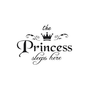 1PC Removable the Princess Crown Wall Sticker Girls Bedroom Decor Baby Room Art Decal,Sticker mural couronne princesse
