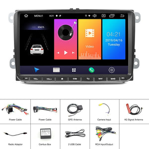 9inch car radio Android 9.0 Multimedia Player GPS navigation WIFI Vehicle Stereo for VW Volkswagen Golf Skoda Seat Auto radio