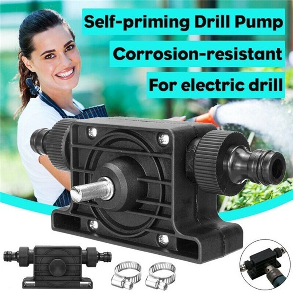Hand Electric Drill Pump Miniature Self-priming Pump Household Small Water Pump Hand Drill Drive Pump Diesel Pump