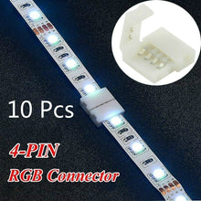 Load image into Gallery viewer, 10 Pcs RGB 5050 LED Strip Schnellverbinder Adapter Verbinder Stecker Connector