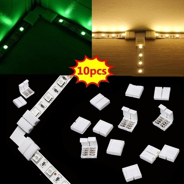 10 Pcs RGB 5050 LED Strip Schnellverbinder Adapter Verbinder Stecker Connector