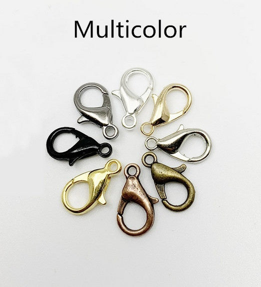 50pcs Lobster Clasp Hooks Connector For DIY Necklace Bracelet Chain Jewelry Making Findings Accessory Supplies