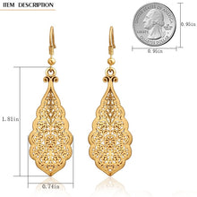 Load image into Gallery viewer, Vintage hollow lace wedding party dangle Earrings for women