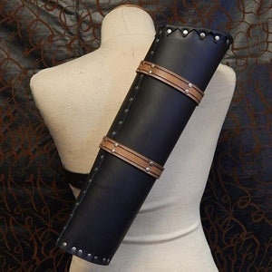 2019 NEW Medieval High Quality Shoulder-back Design Medieval Leather Quiver Rivet Party Bandage Outdoor Activities