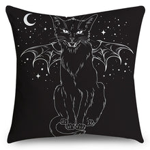 Load image into Gallery viewer, Halloween Party Cat(Double-Sided Printing)Pillow Cover Microfiber Soft Cushion Cover Sofa Pillow Case 18' x 18' (45 cm x 45 cm)