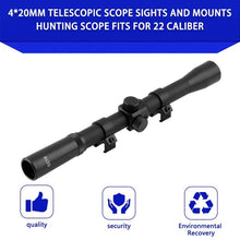Load image into Gallery viewer, Professional 4 X 20 Air Rifle Telescopic Scope Sights Sniper Mounts Adjustable Hunting Scopes for 22 Caliber