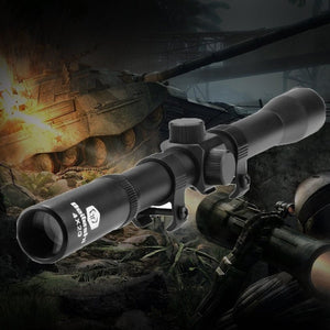 Professional 4 X 20 Air Rifle Telescopic Scope Sights Sniper Mounts Adjustable Hunting Scopes for 22 Caliber