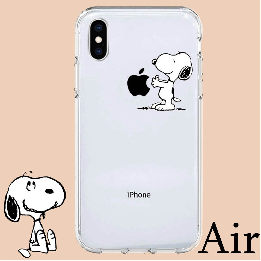 Fashion Simple and unique Snoopy Patterns  Ultra Thin Sofe Edge Hard Back Phone Caes Shockproof Cover For Apple iPhone Xs/ XR/ Xs Max/ X 8 7 6 6s Plus/ 5 5S SE