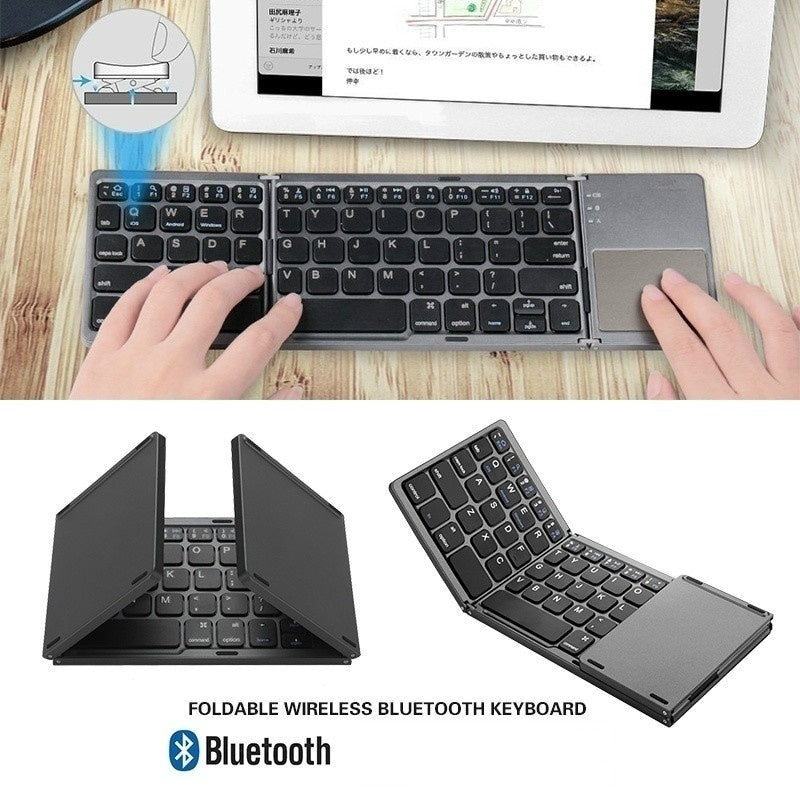 Mini Bluetooth Keyboard With Touchpad USB Charging Cable Wireless Keyboard For IOS Android Windows PC Tablets Smartphone