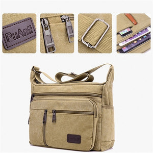 Fashion Canvas Single Shoulder Bag Men Women Unisex Travel Crossbody Bag Outdoor Casual Satchel Vintage Messenger Bags