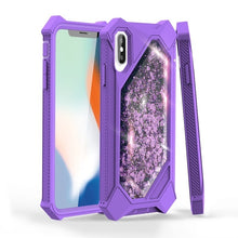 Load image into Gallery viewer, 360 Full 3in1 Protective Quicksand 3D Glitter Bling Sparkle Flowing Liquid Transparent Hybrid Built-in Screen Protector Shockproof Bumper Case Cover for  IPhone X/ Xs/ Xr/ Xs Max/ 8/ 7/ 6/ 6s Plus