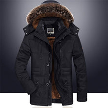 Load image into Gallery viewer, 2019 New Men's Large Size Long Coat Winter Plus Velvet Thick Down Jacket Fur Collar Windbreaker Outdoor Snow Clothes Casual Warm Coat