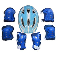 Load image into Gallery viewer, Kids Safety Helmet Knee Elbow Pad Skating Cycling Sports Protective Gear Set
