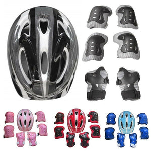 Kids Safety Helmet Knee Elbow Pad Skating Cycling Sports Protective Gear Set