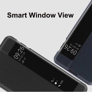 Fashion Flip PU Leather Smart Window View Leather Case For Samsung Galaxy S10Plus S10e S10 S9Plus S9 S8Plus S8 Note9 Note8 For Huawei Honor 8X Nova3i Nova3