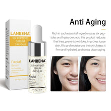 Load image into Gallery viewer, LANBENA Vitamin C Serum+Hyaluronic Acid Serum+Six Peptides Serum 24K Gold Anti-Aging Moisturizing Skin Care Whitening Brighten