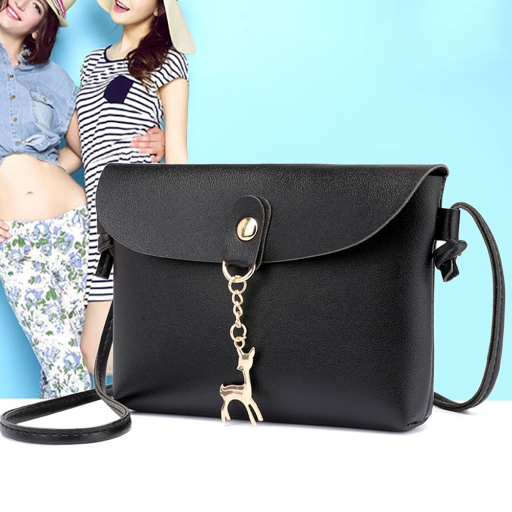 2019 New Fashion Women PU Leather Messenger Handbag Shoulder Bag Satchel Sling  Crossbody Bag