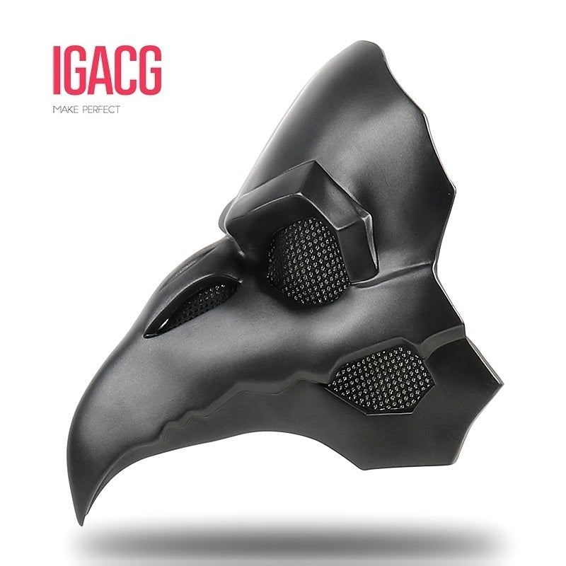 IGACG Punk Mask Crow Reaper Nevermore Skin Masks Reaper Plague Doctor Mask Birds Long Nose Punk Crow Retro Rock