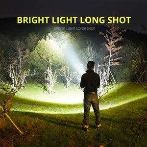 Super Bright LED Flashlight Rechargeable Outdoor High Power Hunting Flashlight Camping Fishing Searchlight